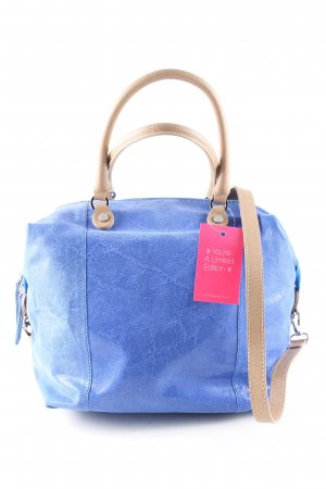 Borse in Pelle Italy Carry Bag blue-natural white casual look