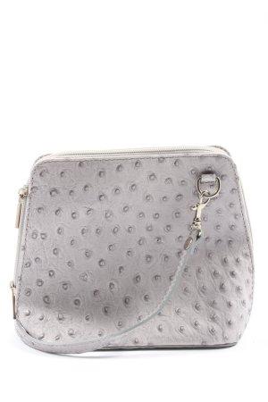 Borse in Pelle Italy Mini Bag light grey allover print casual look