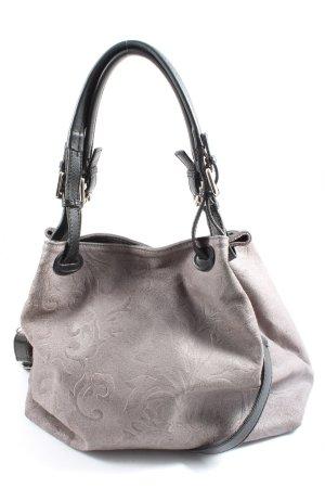Borse in Pelle Italy Shoulder Bag light grey allover print casual look