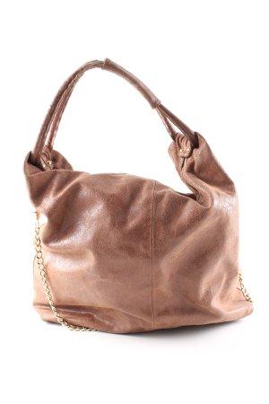 Borse in Pelle Italy Shoulder Bag bronze-colored casual look