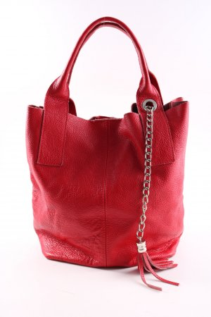 Borse in Pelle Italy Shopper rot Casual-Look