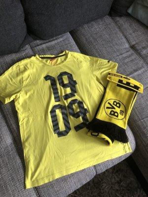 Puma T-shirt czarny-żółty