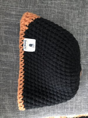 Boshi Mütze schwarz Muster