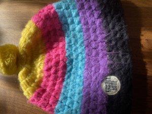 Crochet Cap multicolored wool