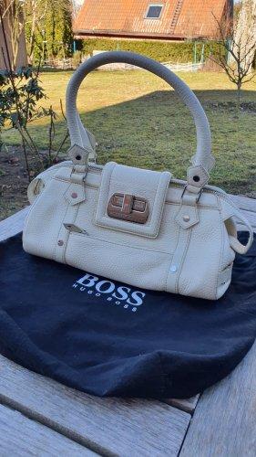 Hugo Boss Handbag natural white-cream leather