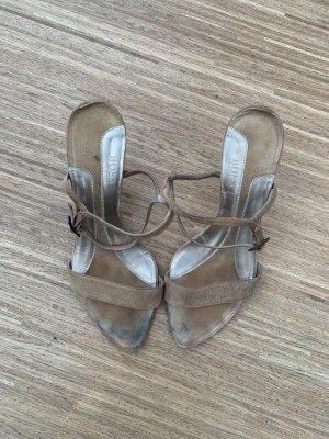 Hugo Boss Strapped Sandals camel leather