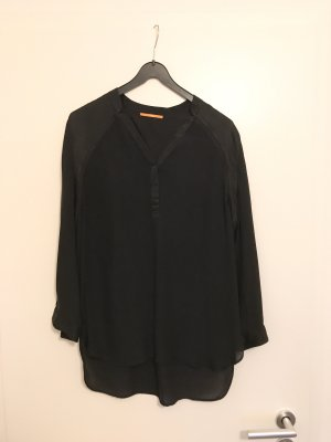 Boss Orange Long Sleeve Blouse black silk
