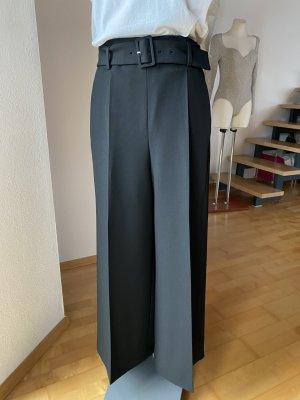 Boss Culottes NEU weite Hose schwarz mit Gürtel Anzughose