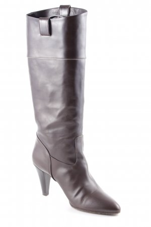 Hugo Boss Absatz Stiefel dunkelbraun Casual-Look