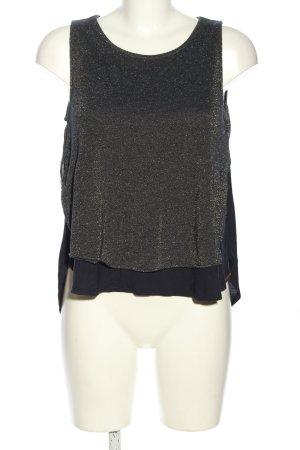 BOSS HUGO BOSS Top koszulowy czarny Melanżowy W stylu casual
