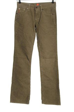 BOSS HUGO BOSS Spodnie sztruksowe khaki W stylu casual