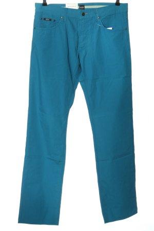 BOSS HUGO BOSS Pantalón de cinco bolsillos azul look casual