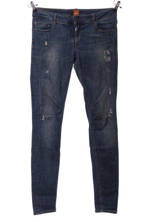 BOSS HUGO BOSS Jeans taille basse bleu style décontracté