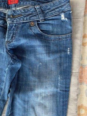 BOSS HUGO BOSS Jeansy z prostymi nogawkami chabrowy Bawełna