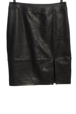 BOSS HUGO BOSS Jupe en cuir noir style décontracté