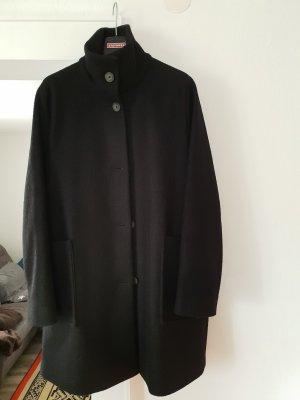 BOSS HUGO BOSS Wełniany płaszcz czarny Wełna