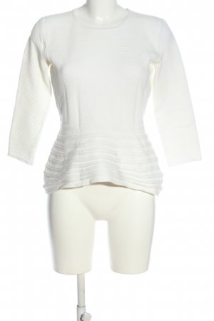 BOSS HUGO BOSS Sweter z okrągłym dekoltem biały W stylu casual