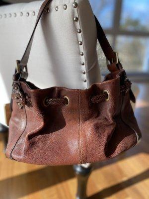 Hugo Boss Shoulder Bag brown-cognac-coloured leather