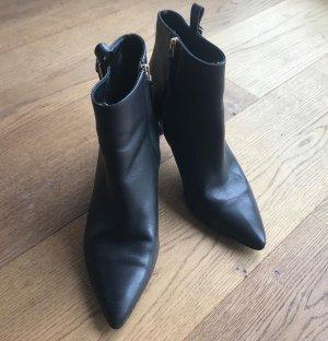 HUGO Hugo Boss Peep Toe Booties black