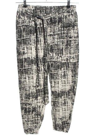 BOSS HUGO BOSS Jersey Pants cream-black abstract pattern casual look