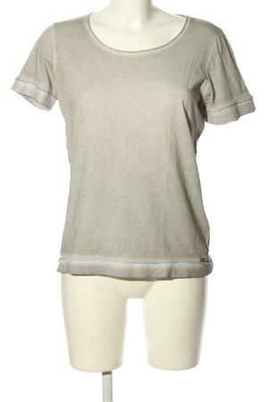 Hugo Boss T-Shirt hellgrau meliert Casual-Look