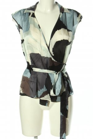 BOSS HUGO BOSS Wikkelblouse abstract patroon casual uitstraling