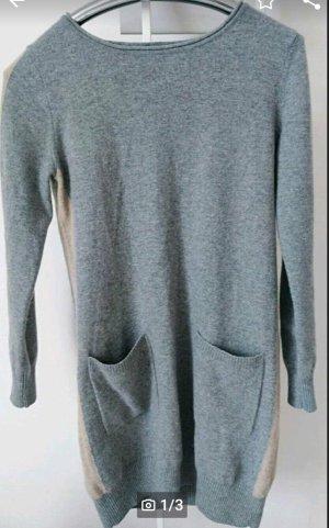 Boss Orange Robe en maille tricotées gris clair-chameau