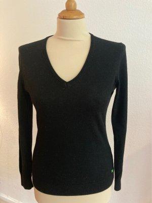 BOSS Klassisch schwarzer Langarm Pullover 36 S