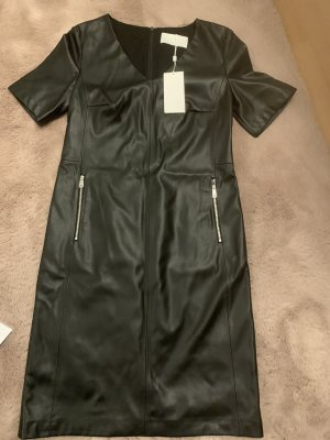 BOSS HUGO BOSS Leather Dress black