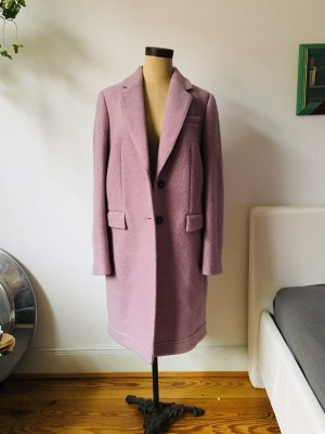 Boss Mantel aus Wolle in Flieder