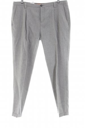 Boss Orange Pleated Trousers light grey flecked business style