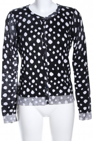 Boss Orange Cardigan black-white allover print casual look