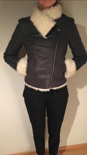 Boss Orange Fake Fur Jacket black-natural white