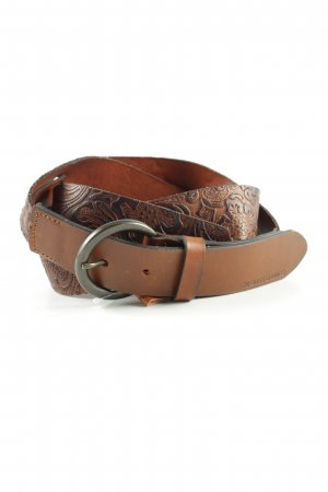 Boss Orange Braided Belt brown flower pattern casual look