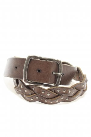 Boss Orange Braided Belt brown casual look