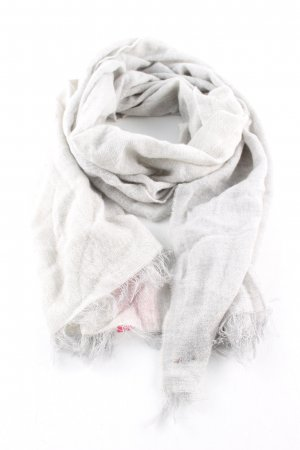 Boss Orange Fringed Scarf light grey casual look