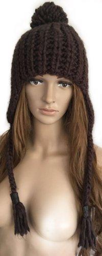 Boss Orange Knitted Hat black brown