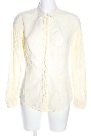 Boss Orange Hemd-Bluse blassgelb-weiß Streifenmuster Casual-Look
