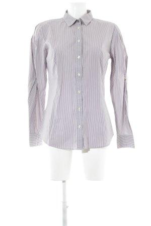 Boss Orange Hemd-Bluse graulila-weiß Streifenmuster Business-Look