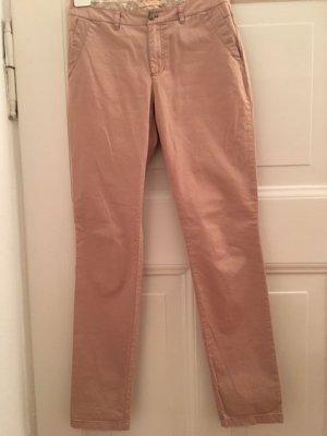 Boss Orange pantalón de cintura baja rosa empolvado Algodón