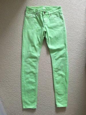 Boss Orange Hose / Jeans, neongrün, leichte Waschung, entspricht Gr. 26
