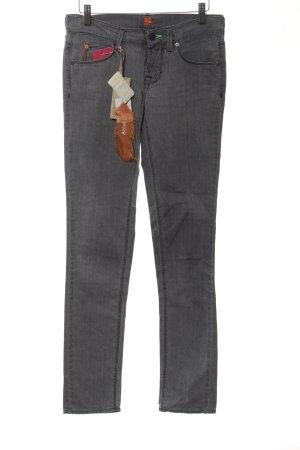 Boss Orange Jeans taille basse gris clair style décontracté