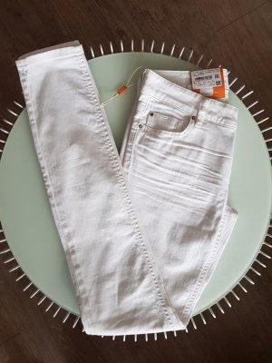 Boss Orange Pantalon cigarette blanc