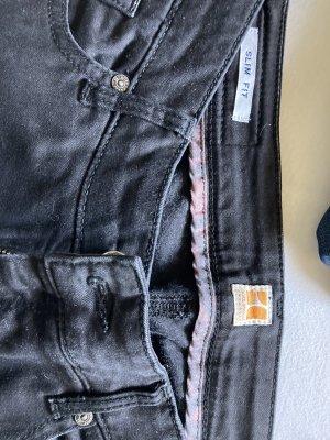 Boss Orange Dopasowane jeansy czarny Denim