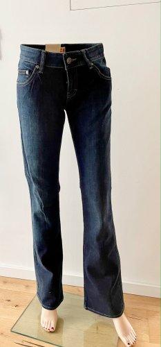 Boss Orange Vaquero de corte bota azul oscuro Algodón