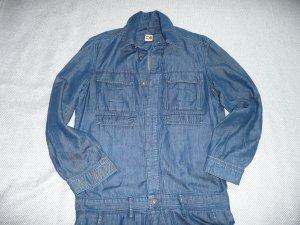 Boss Orange Jeans Overall Jumpsuit blau m halblangem Bein Gr 42-44