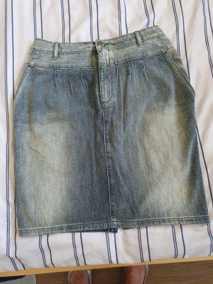 Boss Orange Denim Skirt azure-light grey cotton