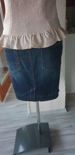 Boss Orange Jeansowa spódnica niebieski