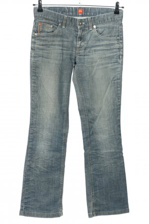 Boss Orange Jeansschlaghose blau Casual-Look
