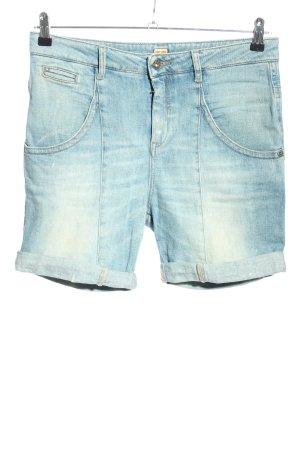 Boss Orange Pantalón corto de tela vaquera azul look casual